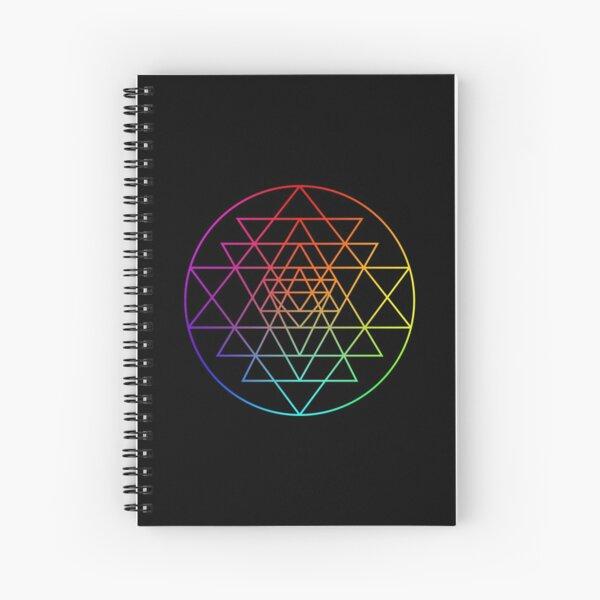 Sri Yantra triangles Spiral Notebook