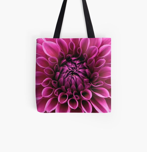 Dahlia bloom flower All Over Print Tote Bag