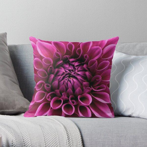 Dahlia bloom flower Throw Pillow