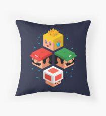 MUSHROOM KINGDOM CUBES Throw Pillow