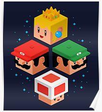 MUSHROOM KINGDOM CUBES Poster