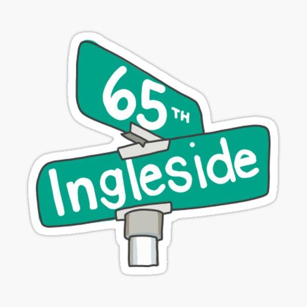 65th & Ingleside street signs Sticker