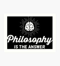Philosophy Vintage Art Print