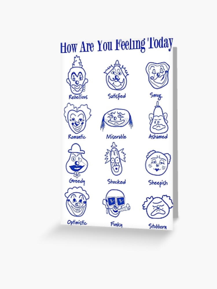 How are You Feeling Today Emotions Magnet 4x6