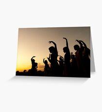 evening dance Greeting Card