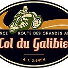 Col du Galibier 03 Motorcycle T-Shirt + Sticker - Route des Grandes Alpes by ROADTROOPER