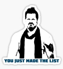 Chris Jericho You Just Made The List Sticker