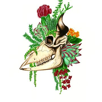 bull and plants by OliviaRains