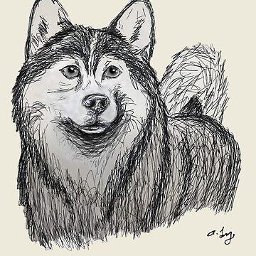 Husky Sketch by Creatividad