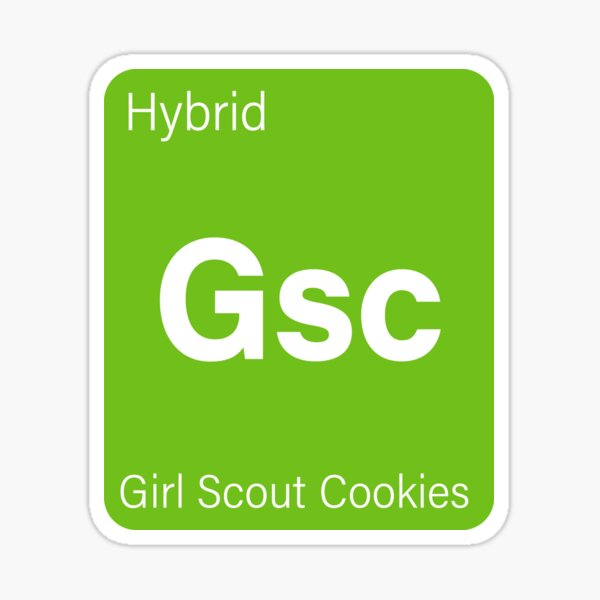 Girl Scout Cookies Strain Tag - Favorite Strain Sticker