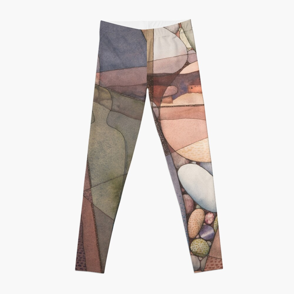 Canyon Dwellers Watercolor Painting Leggings