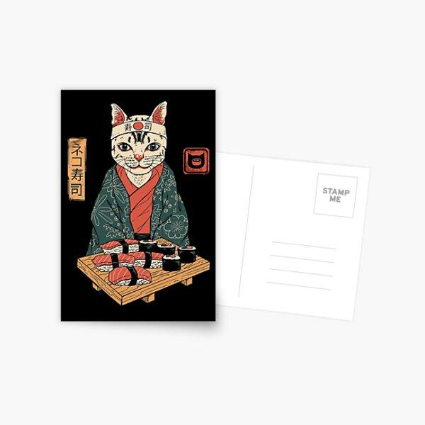 Neko Sushi Bar Postcard