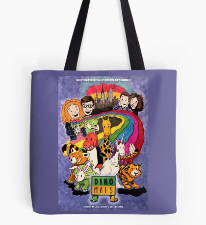 Dinomals Animated Series Poster Tote Bag