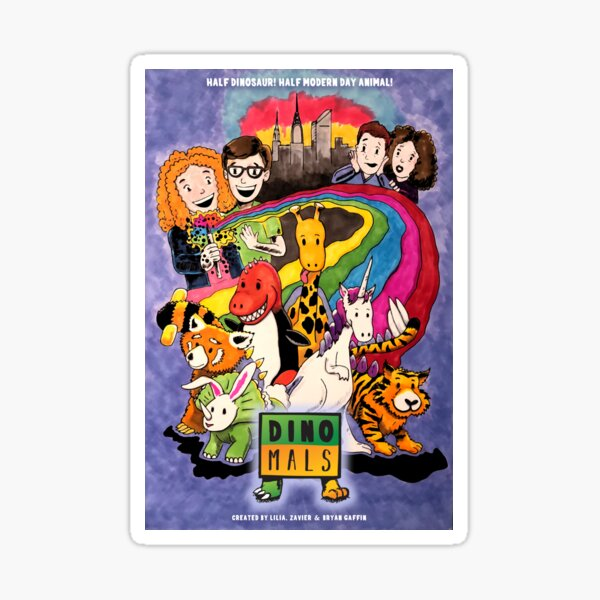 Dinomals Animated Series Poster Sticker