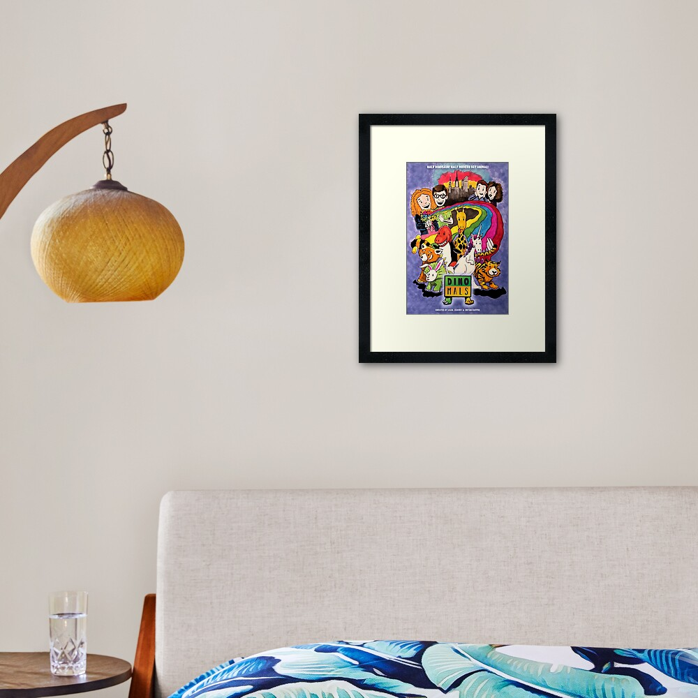 Dinomals Animated Series Poster Framed Art Print