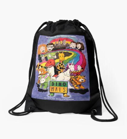 Dinomals Animated Series Poster Drawstring Bag