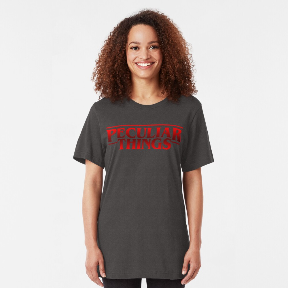 Peculiar Things Filled Slim Fit T-Shirt