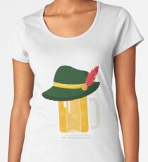 Beer With German Alpine Hat Funny Oktoberfest 2018 T Shirt Women's Premium T-Shirt