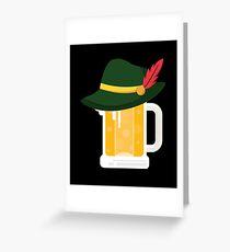 Beer With German Alpine Hat Funny Oktoberfest 2018 T Shirt Greeting Card