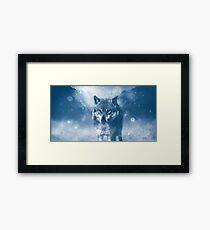 Winter Snow Wolf Animal Mystical Framed Print