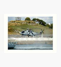 Merlin Helicopter Art Print