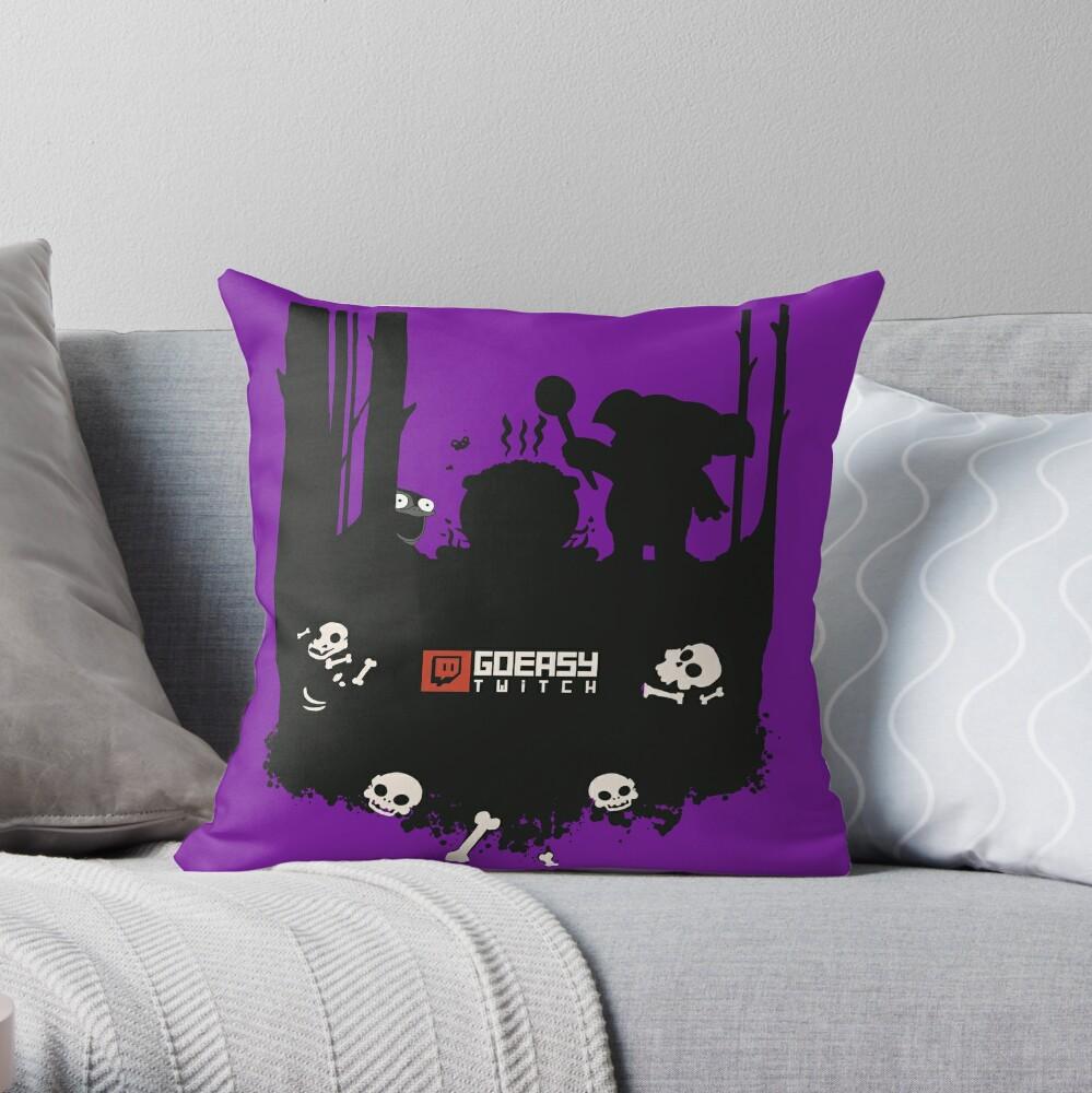 GoEaSyTwitch Rusterella Edition Throw Pillow