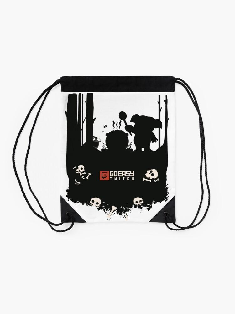 Alternate view of GoEaSyTwitch Rusterella Edition Drawstring Bag