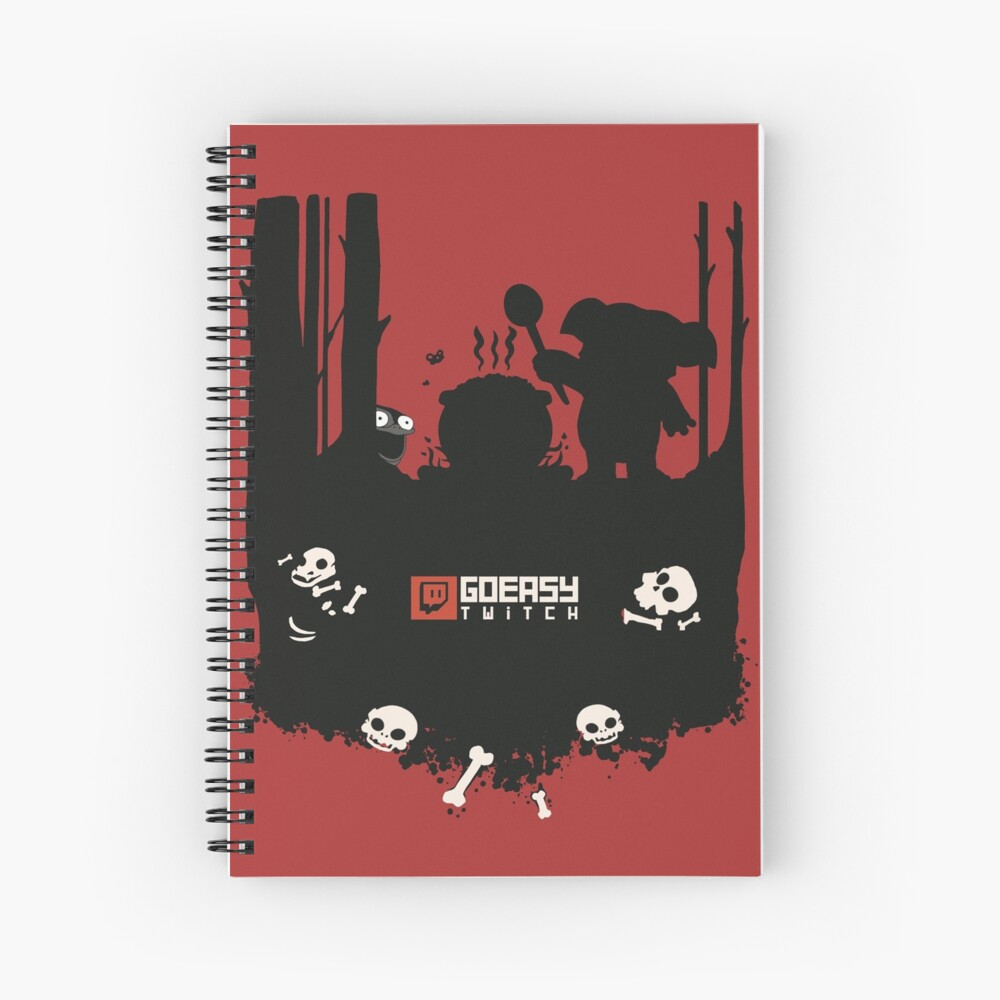 GoEaSyTwitch Rusterella Edition Spiral Notebook
