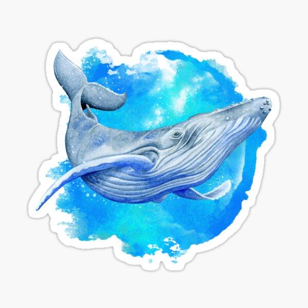 Ballena Azul Pegatina