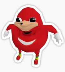 Uganda Knuckles Sticker