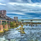 Bridge over the James River by Viv Thompson