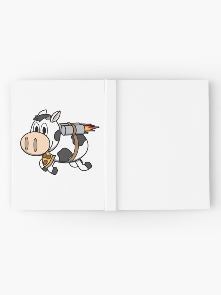 Alternate view of Cow Eating Pizza Wearing a Jetpack Hardcover Journal