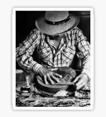 Cuban Cigar Maker Sticker