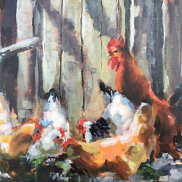 Chickens in Dappled Light by Susan1964