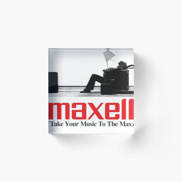 MAXELL THE TAPE THAT DELIVERS VINTAGE SHIRT  Acrylic Block