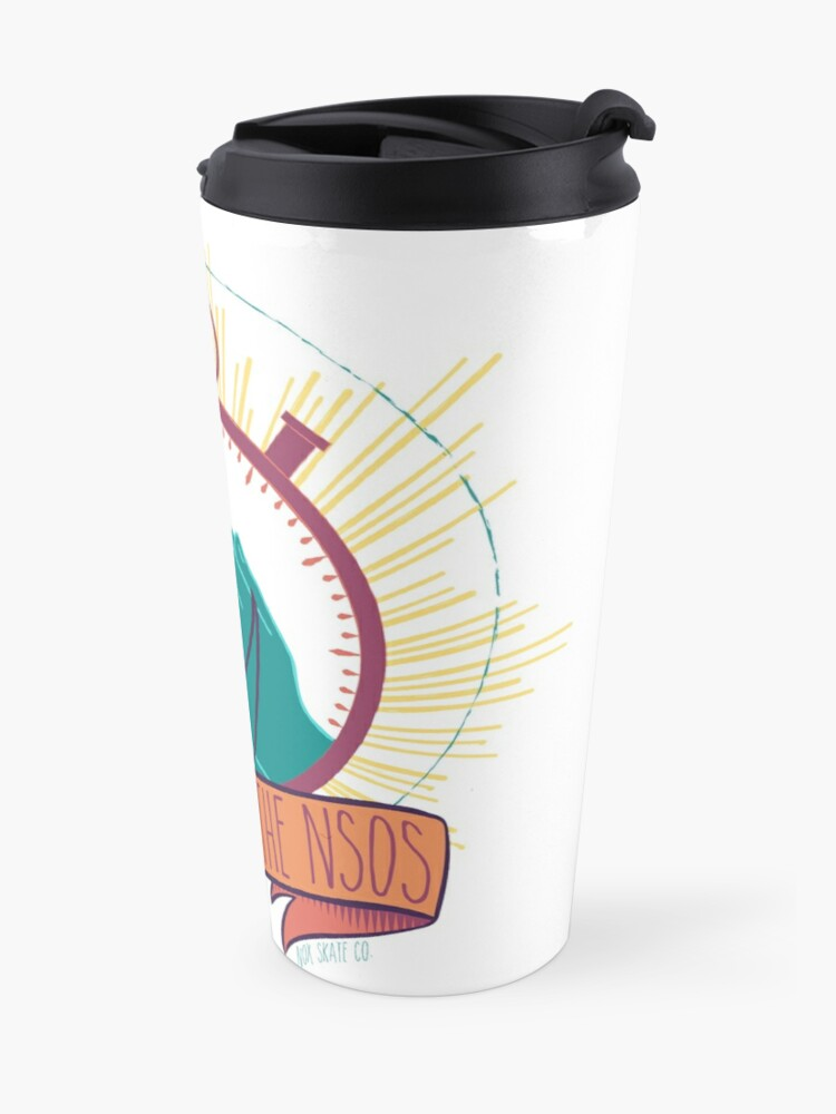 Alternate view of God Bless the NSOs Travel Mug
