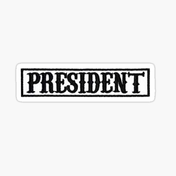 president patch | sons of anarchy Sticker
