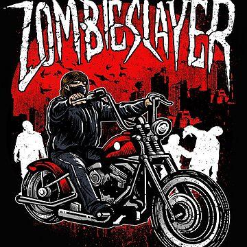 Zombie Slayer Motorcycle Rider by GarnetLeslie