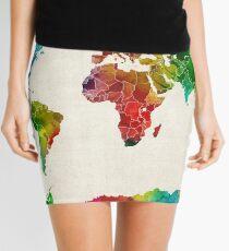 World Map Mini Skirts Redbubble