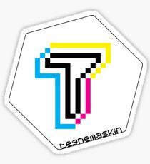 Tegnemaskin Hexagon 8Bit CMYK Sticker