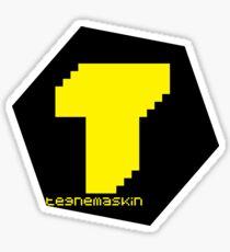 Tegnemaskin Hexagon Yellow Black Sticker