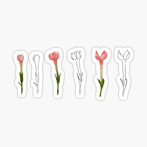 Digital Painting | Flower Blooms | Sticker Sheet Sticker