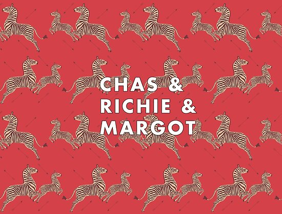 Chas Richie Margot Tenenbaum - Royal Tenenbaum Zebra Wallpaper by Sydney Koffler