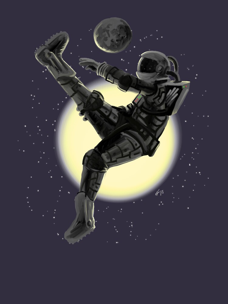Space Soccer with the Moon by DOODL