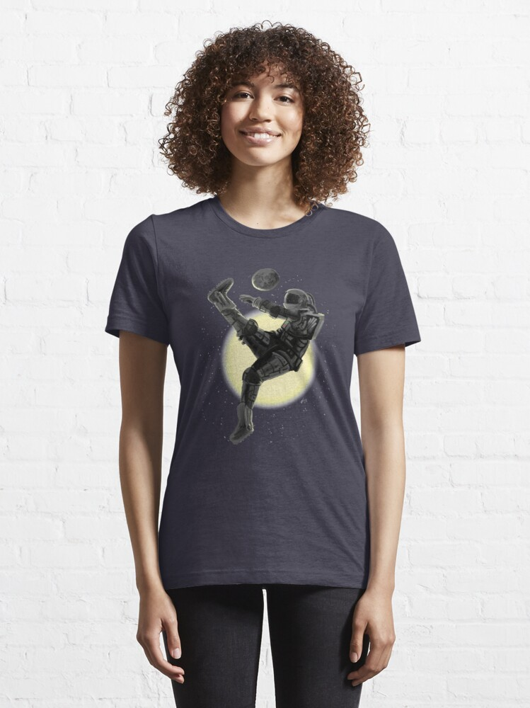 Alternate view of Space Soccer with the Moon Essential T-Shirt