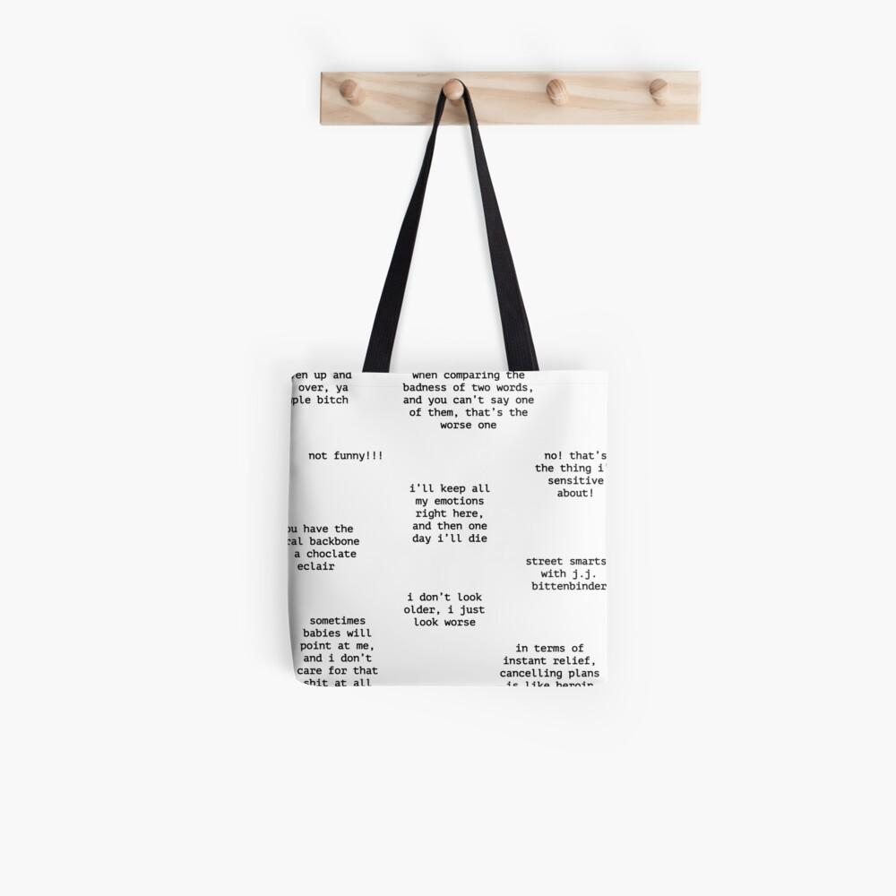 John Mulaney Quotes Tote Bag