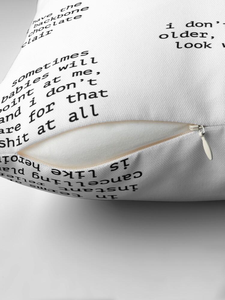 Alternate view of John Mulaney Quotes Throw Pillow