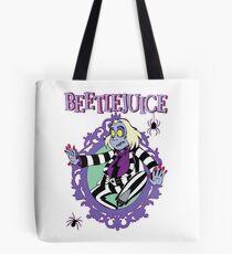 Beetlejuice Ghost Halloween Spider Beetle Juice Tote Bag
