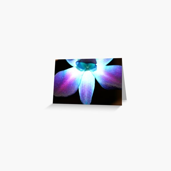 Blue Orchid (Bow Down & Surrender) Greeting Card
