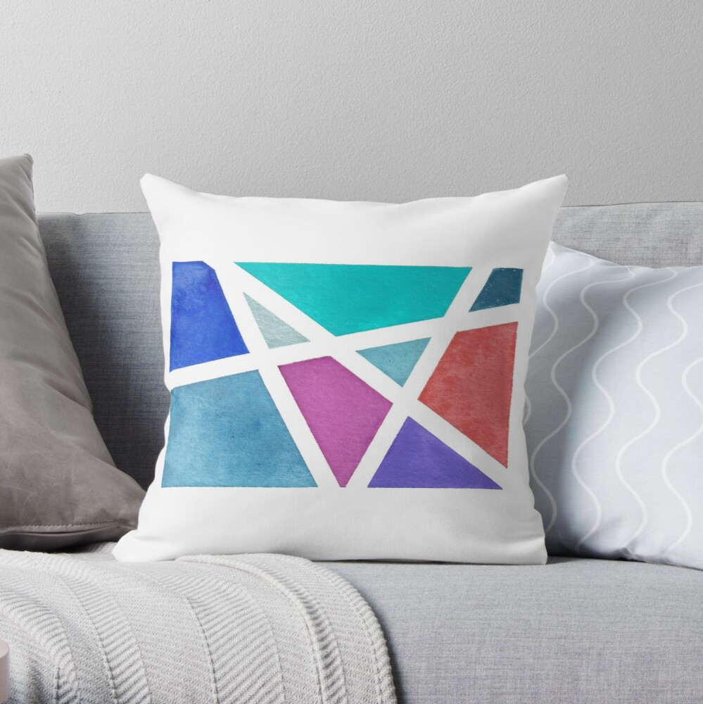 Digitized Original Watercolor Painting  Throw Pillow
